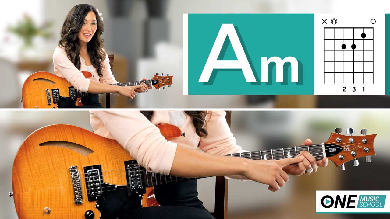How to play an Am Chord on guitar